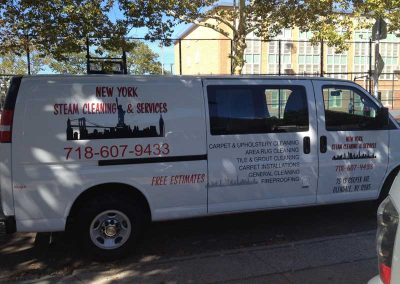 New-York-Steam-Cleaning- Van- Side