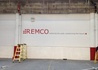 Remco parking garage wall graphic photo